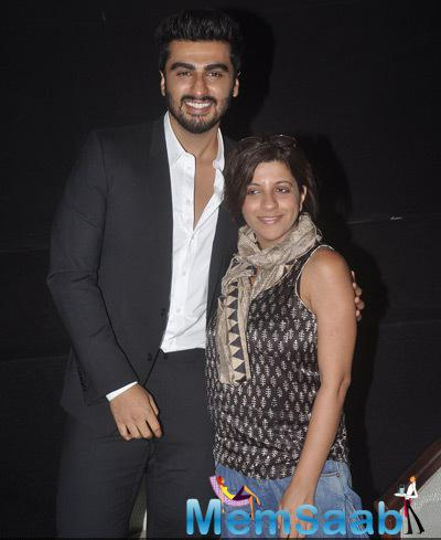 Arjun Kapoor Posed With Zoya Akhtar During MAMI Film Round Table Interactions