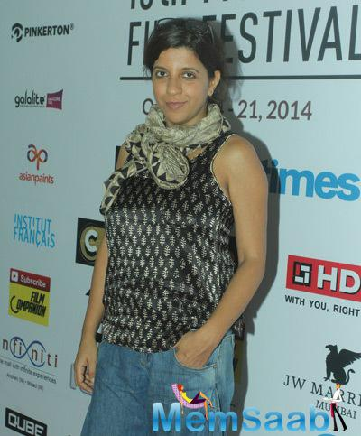 Zoya Akhtar Posed In Conversation At 2014 Mumbai Film Festival