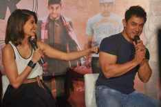 Anushka Sharma And Aamir Khan Cool Interaction With Media At The Trailer Launch Of Film PK