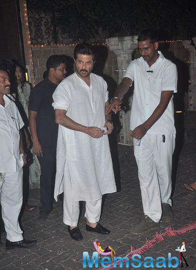 Anil Kapoor Bursting Some Crackers And Having A Gala Time