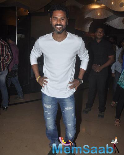 Prabhu Deva Smiling Pose For Media During The Trailer Launch Of Film Action Jackson