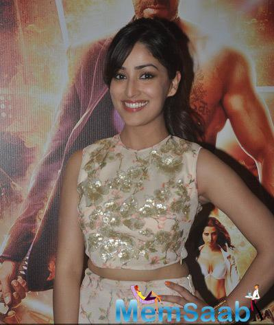 Smiling Yami Gautam Beautiful Look At The Trailer Launch Of Film Action Jackson