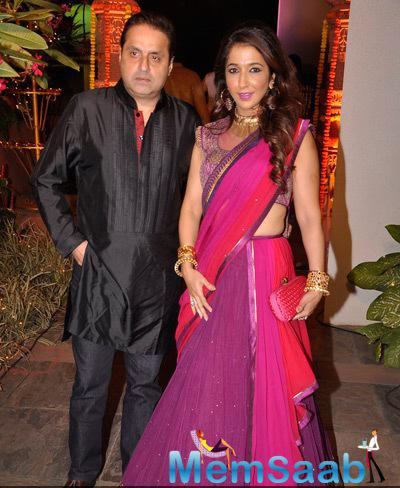 Krishika Lulla Snapped During Sachiin J Joshi And Urvashi Sharma Diwali Bash