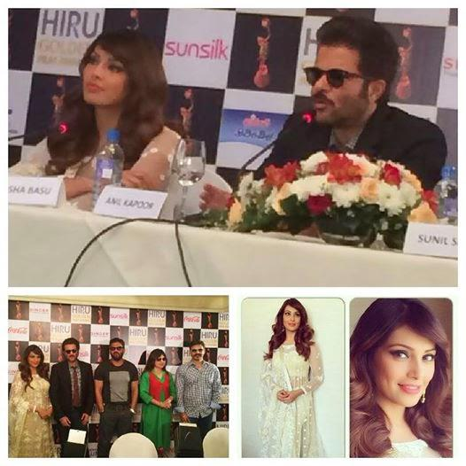 Bipasha Basu And Anil Kapoor During Hiru Golden Film Awards 2014 Press Meet