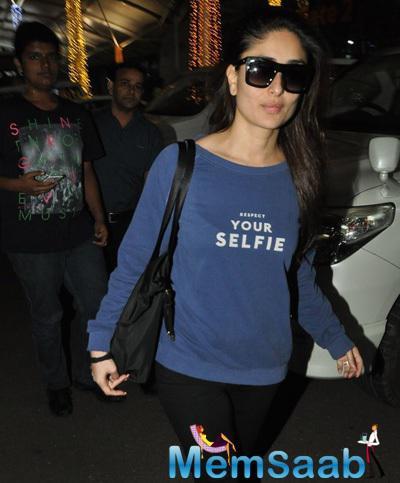 Kareena Kapoor Khan Snapped In Casuals At Mumbai Airport