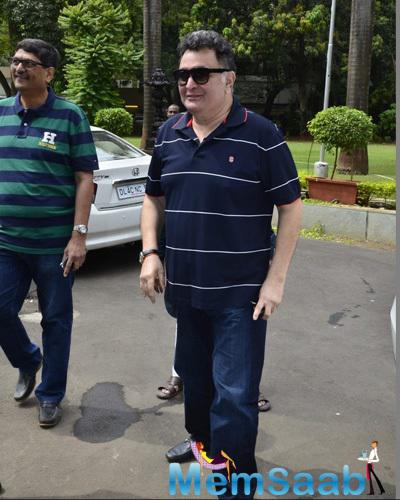 Rishi Kapoor Arrived During The Art Show Inauguration Of Dr. Seema Chaudhary And Nitin Chaudhary