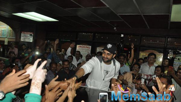 Abhishek Bachchan Meets Fans With Cool Smile At Gaiety Galaxy
