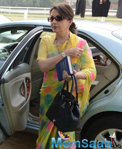 Sharmila Tagore Arrived The Bhopal Pataudi Polo Cup 2014