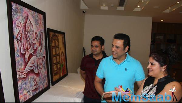 Govinda Attend Dr. Seema Chaudhary And Nitin Chaudhary Art Show