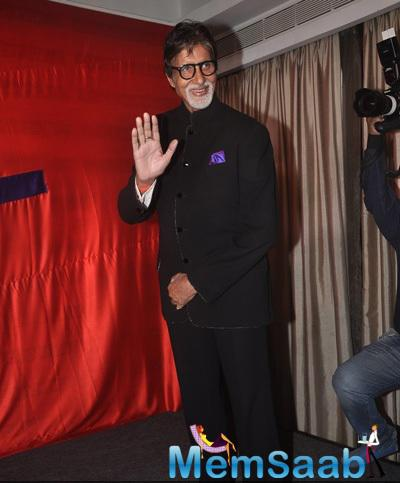 Amitabh Bachchan Waves Hand For Fans At The Launch Of KRK Box Office Website