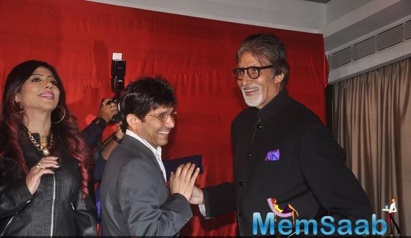 KRK And Big B Cool Gossip During KRK Box Office Website Launch Event
