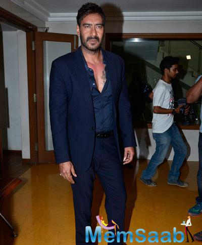 Ajay Devgan Dashing Look In Suit During The Promotion Of Action Jackson On KBC Sets