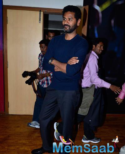 Prabhu Deva Strikes A Cool Pose During The Promotion Of Action Jackson On KBC Sets