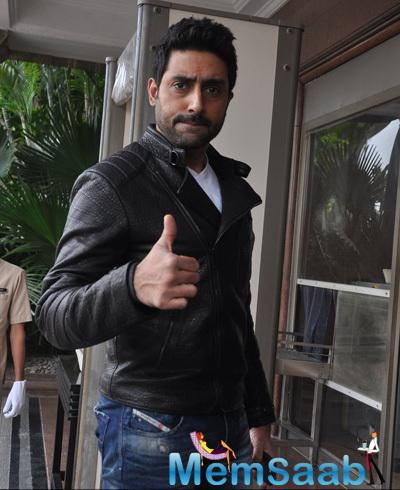 Abhishek Bachchan Strikes A Pose At The HNY Mobile Game Success Celebration