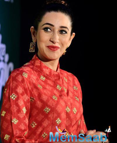 Karisma Kapoor Cute Pretty Look During The Launch Of Mccain Food Brand