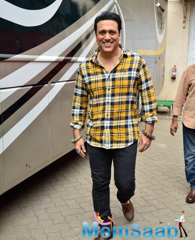 Govinda Flashes Smile During The Press Meet Of Happy Ending Movie