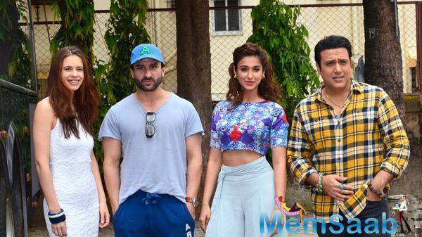 Kalki Koechlin,Saif Ali Khan,Ileana D'Cruz And Govinda Attended A Press Meet For Their Forthcoming Movie Happy Ending