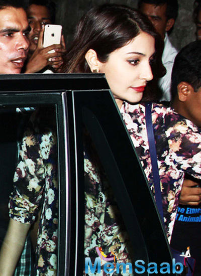Anushka Sharma Picked A Floral Printed Outfit For The Night