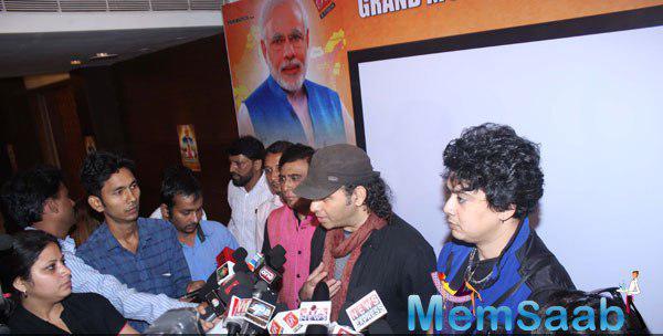 Mohit Chauhan Interact With Media During The Launch Of Ek Bharat Shreshtha Bharat Music Video