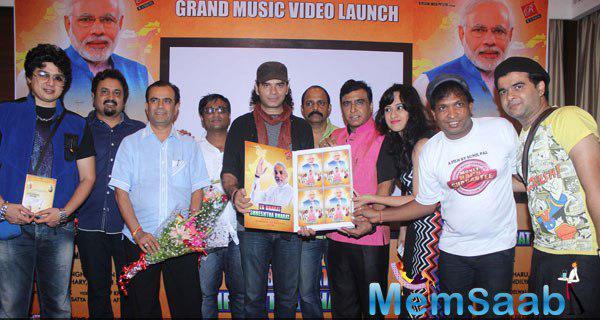 Mohit Chauhan,Ravindra Singh,Monali Sehgal,Sunil Pal And Others Launched Ek Bharat Shreshtha Bharat Music Video