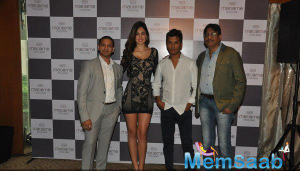 Akhil Jain,Bruna Abdullah,Vikram Phadnis And Rajesh Jain Clicked During The Announcement Of Madame Style Week