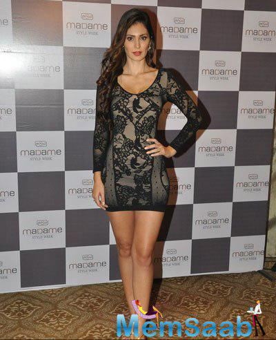 Bruna Abdullah Sexy Look During The Announcement Of Madame Style Week