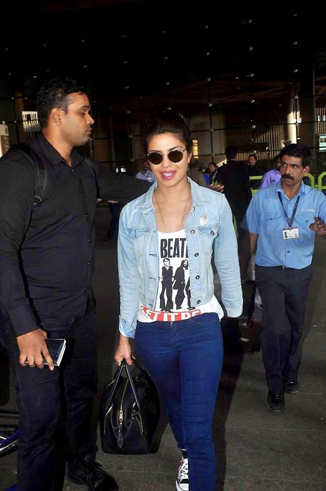 Priyanka Chopra Snapped At Mumbai International Airport During She Return From Abu Dhabi