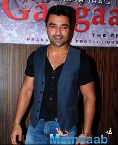 Ajaz Khan Smiling Look At Prakash Jha 5 New Films Launch Event