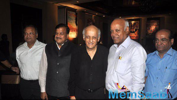 Mukesh Bhatt Smiling Pose At Prakash Jha 5 New Films Launch Event
