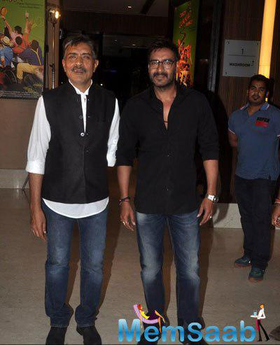 Prakash Jha And Ajay Devgan Posed During Prakash Jha 5 New Films Launch Event