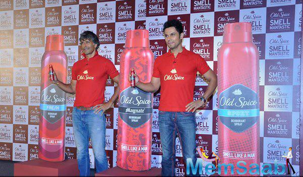Milind Soman And Randeep Hooda Go Red As They Promote Old Spice