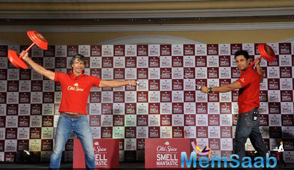 Milind Soman And Randeep Hooda Launched Old Spice Deodrant
