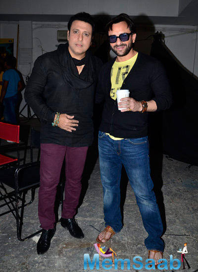 Govinda And Saif Ali Khan Casually Dressed During The Press Meet Of Happy Ending