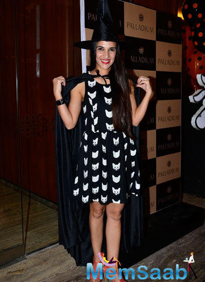 Tara Sharma In Halloween Look At Palladium Halloween Bash