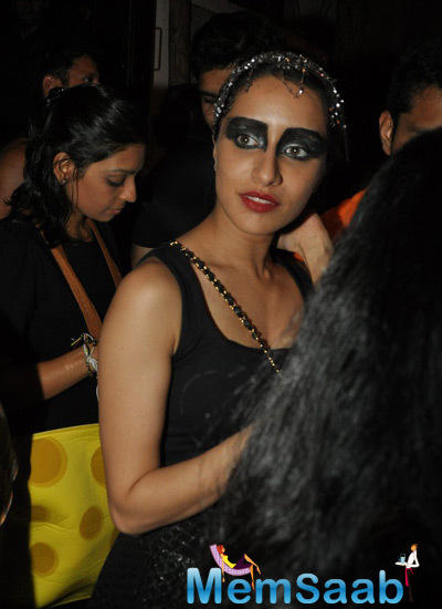 Shraddha Kapoor In Black Swan Dress At Nido Halloween Night Bash