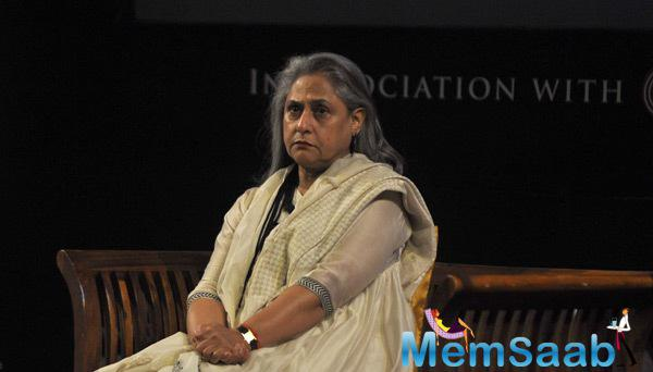 Jaya Bachchan Attend The Press Meet Of Tata Literature Festival