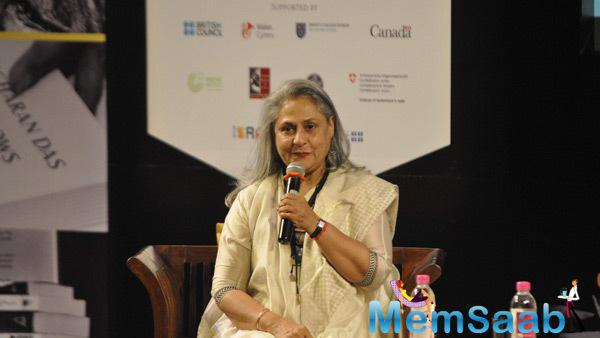 Jaya Bachchan Spoke Few Words About Tata Lit Fest 2014