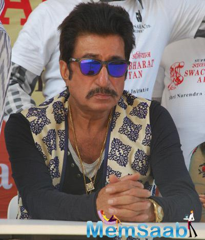 Shakti Kapoor Cool Look During Cleanliness Drive Event By Nahar Group