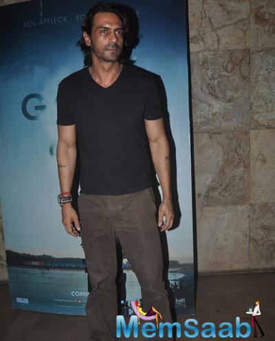 Arjun Rampal Casual Look At The Screnning Of Gone Girl