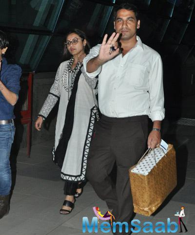 Rani Mukerji Spotted At Mumbai International Airport
