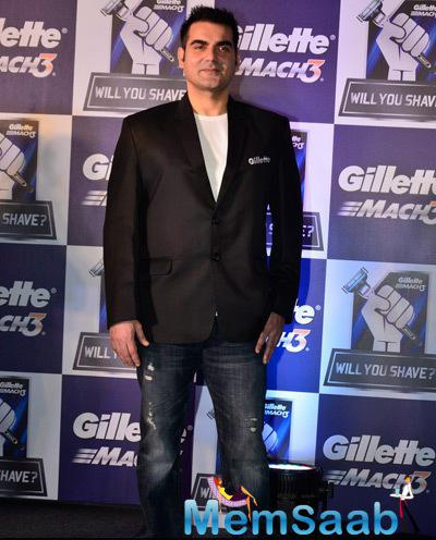 Arbaaz Khan Dashing Look In Blazer At Gillette Campaign Launch Event