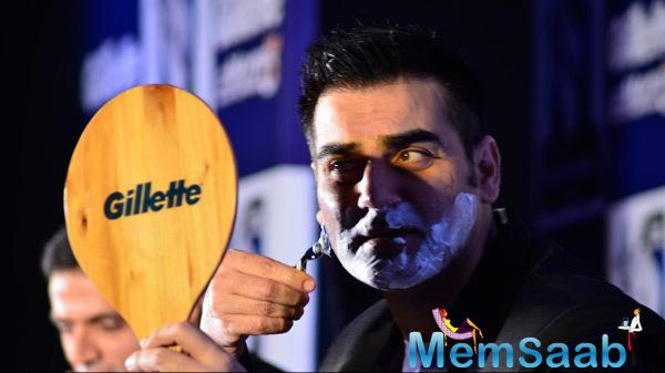 Arbaaz Khan Demonstrated A Shave During The Promotional Event