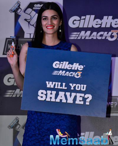 Kriti Sanon Cool Smiling Pose During Gillette Campaign Launch Event
