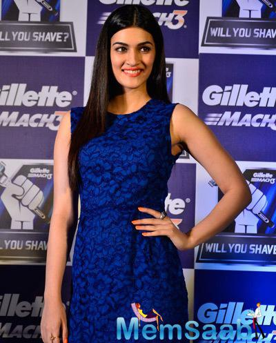 Kriti Sanon Stunning Look During The Promotion Of Gillette Campaign
