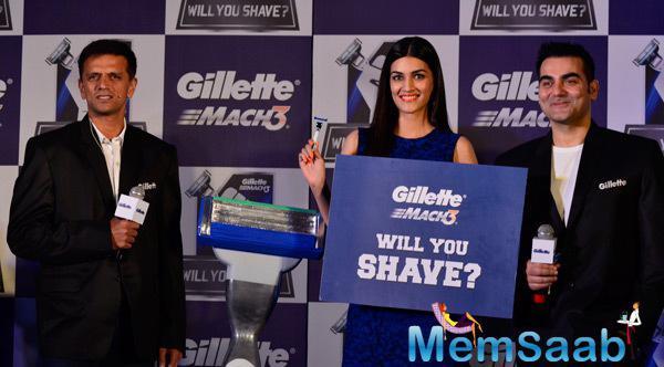Rahul Dravid,Kriti Sanon And Arbaaz Khan Promote Gillette Campaign