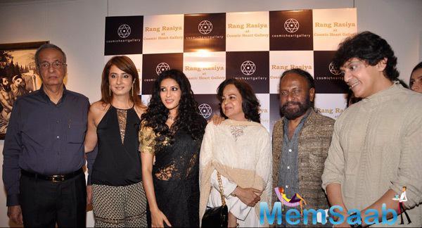 Jalpa Vithalani,Nandana Sen,Ketan Mehta,Ajay Gehi And Others Clicked During The Promotion Of Rang Rasiya At Cosmic Heart Gallery