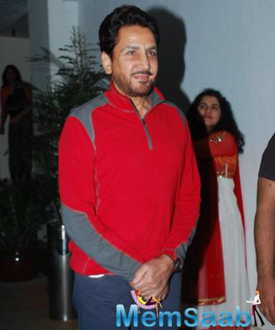 Gurdas Maan Spotted At Punjabi 3D Animation Film Chaar Sahibzade Special Screening