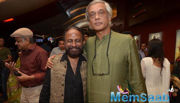 Ketan Mehta And Sudhir Mishra Posed During The Screening Of Rang Rasiya