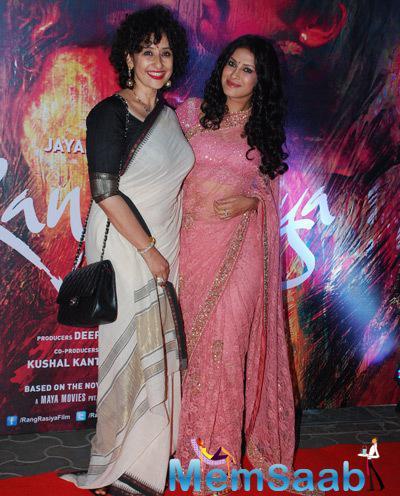 Manisha Koirala And Nandana Sen Cool Pose During The Premiere Of Rang Rasiya