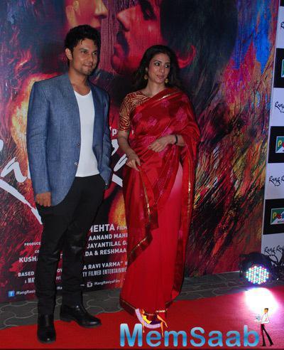 Randeep Hooda And Tabu On Red Carpet At The Screening Of Rang Rasiya